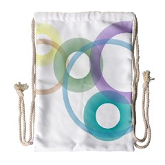 Rainbow Colors Circles Drawstring Bag (large) by picsaspassion