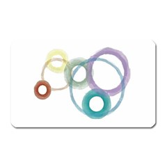 Rainbow Color Circles, Watercolor - Aquarel Painting Magnet (rectangular) by picsaspassion