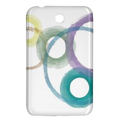 Rainbow Color Circles, Watercolor   Aquarel Painting Samsung Galaxy Tab 3 (7 ) P3200 Hardshell Case  by picsaspassion
