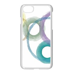 Rainbow Color Circles, Watercolor   Aquarel Painting Apple Iphone 7 Seamless Case (white)
