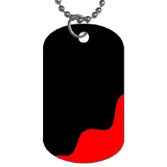 Black And Red Dog Tag (two Sides) by Valentinaart