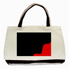 Black And Red Basic Tote Bag (two Sides) by Valentinaart