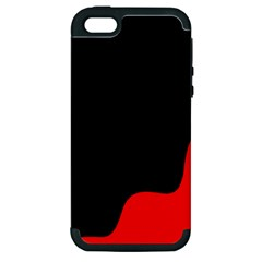 Black And Red Apple Iphone 5 Hardshell Case (pc+silicone)
