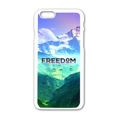 Freedom Apple Iphone 6/6s White Enamel Case by Brittlevirginclothing