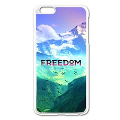 Freedom Apple Iphone 6 Plus/6s Plus Enamel White Case by Brittlevirginclothing