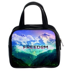 Freedom Classic Handbags (2 Sides) by Brittlevirginclothing