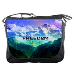 Freedom Messenger Bags by Brittlevirginclothing
