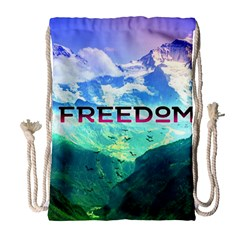 Freedom Drawstring Bag (large) by Brittlevirginclothing