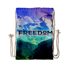 Freedom Drawstring Bag (small) by Brittlevirginclothing