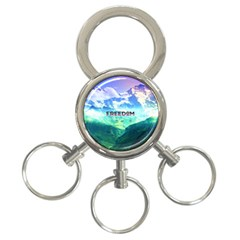 Freedom 3 Ring Key Chains by Brittlevirginclothing