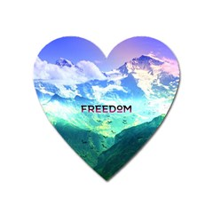 Freedom Heart Magnet by Brittlevirginclothing