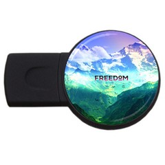 Freedom Usb Flash Drive Round (2 Gb)  by Brittlevirginclothing