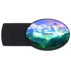 Freedom Usb Flash Drive Oval (2 Gb)