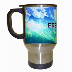 Freedom Travel Mugs (white) by Brittlevirginclothing