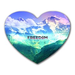 Freedom Heart Mousepads by Brittlevirginclothing