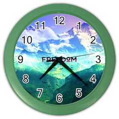 Freedom Color Wall Clocks by Brittlevirginclothing