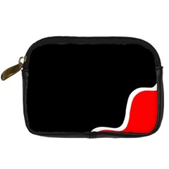 Simple Red And Black Desgin Digital Camera Cases by Valentinaart