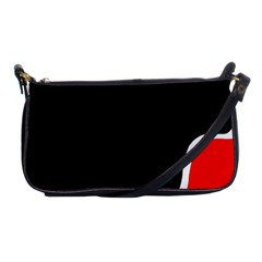 Simple Red And Black Desgin Shoulder Clutch Bags