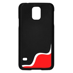 Simple Red And Black Desgin Samsung Galaxy S5 Case (black) by Valentinaart