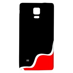 Simple Red And Black Desgin Galaxy Note 4 Back Case