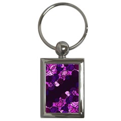 Purple Bubbles Key Chains (rectangle)  by Valentinaart