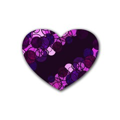 Purple Bubbles Heart Coaster (4 Pack)  by Valentinaart