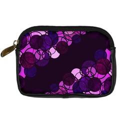 Purple Bubbles Digital Camera Cases by Valentinaart