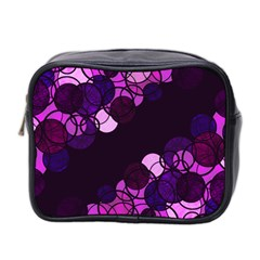 Purple Bubbles Mini Toiletries Bag 2 Side by Valentinaart