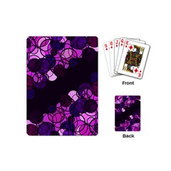 Purple Bubbles Playing Cards (mini)  by Valentinaart