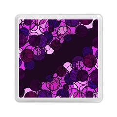 Purple Bubbles Memory Card Reader (square)  by Valentinaart