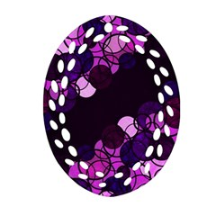 Purple Bubbles Ornament (oval Filigree)
