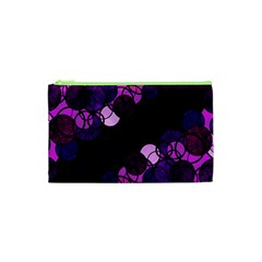 Purple Bubbles Cosmetic Bag (xs) by Valentinaart