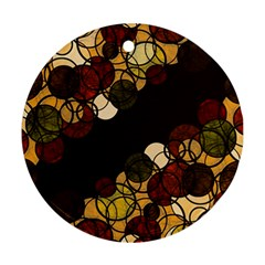 Autumn Bubbles Ornament (round)  by Valentinaart