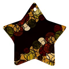 Autumn Bubbles Ornament (star)  by Valentinaart