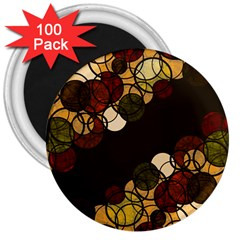 Autumn Bubbles 3  Magnets (100 Pack) by Valentinaart