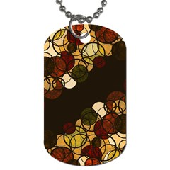 Autumn Bubbles Dog Tag (one Side)