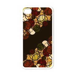 Autumn Bubbles Apple Iphone 4 Case (white) by Valentinaart