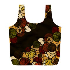 Autumn Bubbles Full Print Recycle Bags (l)  by Valentinaart