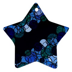 Blue Bubbles Ornament (star)  by Valentinaart