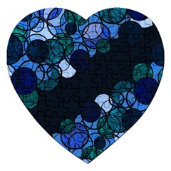 Blue Bubbles Jigsaw Puzzle (heart) by Valentinaart