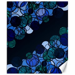 Blue Bubbles Canvas 20  X 24   by Valentinaart
