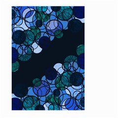 Blue Bubbles Large Garden Flag (two Sides) by Valentinaart