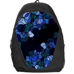 Blue Bubbles Backpack Bag by Valentinaart