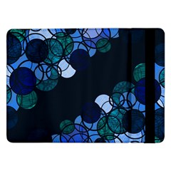 Blue Bubbles Samsung Galaxy Tab Pro 12 2  Flip Case by Valentinaart