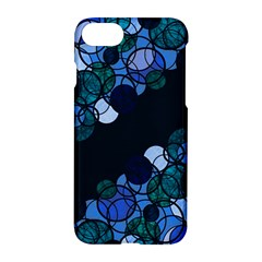 Blue Bubbles Apple Iphone 7 Hardshell Case by Valentinaart