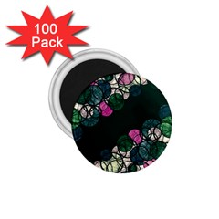 Green And Pink Bubbles 1 75  Magnets (100 Pack)  by Valentinaart