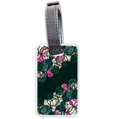Green And Pink Bubbles Luggage Tags (two Sides)