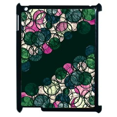 Green And Pink Bubbles Apple Ipad 2 Case (black) by Valentinaart
