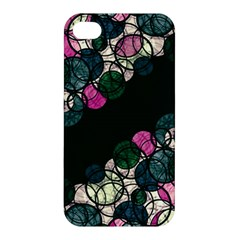 Green And Pink Bubbles Apple Iphone 4/4s Premium Hardshell Case by Valentinaart