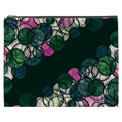 Green And Pink Bubbles Cosmetic Bag (xxxl)  by Valentinaart